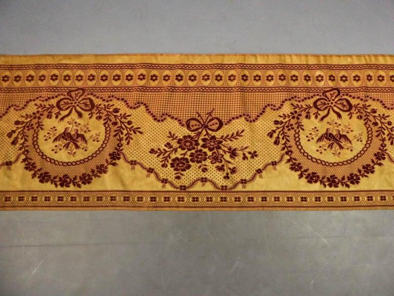 8 meters of Border in chiseled velvet - Late 18th century France For Sale 10