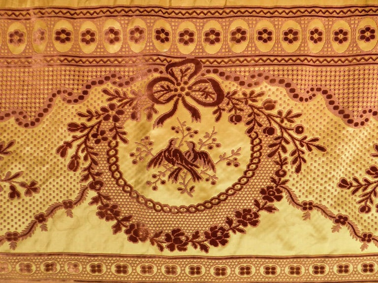Women's or Men's 8 meters of Border in chiseled velvet - Late 18th century France For Sale