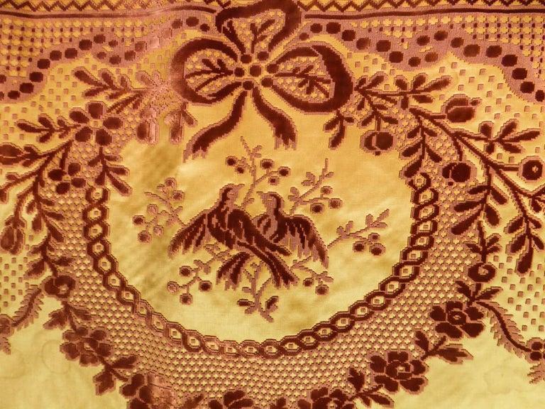 8 meters of Border in chiseled velvet - Late 18th century France For Sale 1