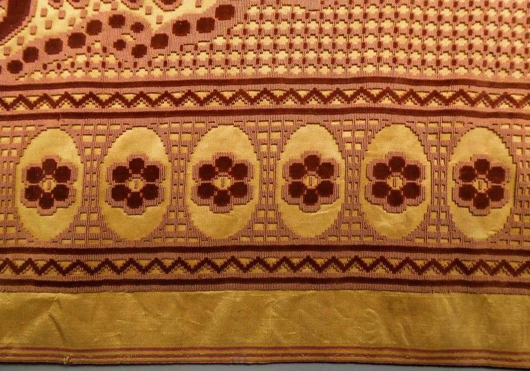 8 meters of Border in chiseled velvet - Late 18th century France For Sale 2