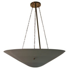 8 Mid-Century Modern circa 1946 Blue Cone Pendant Lamps 8 Available