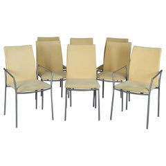 8 Mid-Century Modern Danish Minimalist Dining Chairs by Skovby, 20th Century
