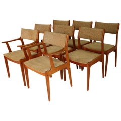 8 Midcentury Scandinavia Woodworks Co. Teak Dining Chairs