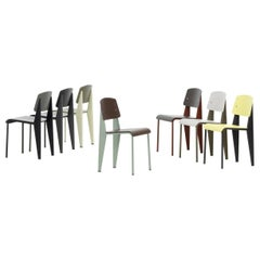 8 Mixed Vitra Standard SP Chairs
