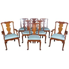 8 Pennsylvania House Solid Cherry Queen Anne Dining Chairs
