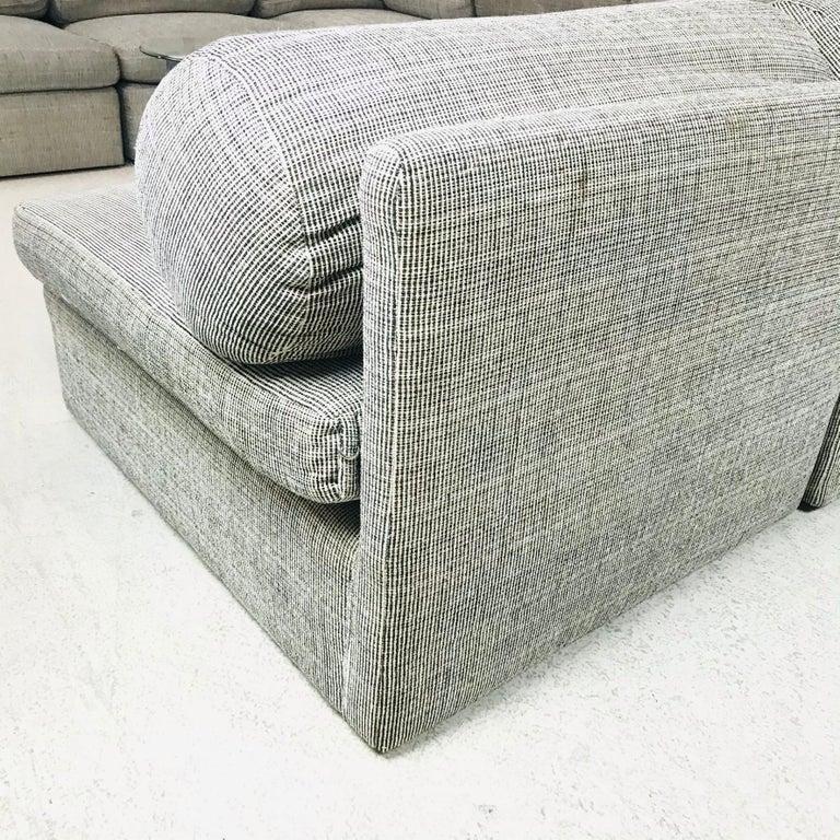 Mid-Century Modern 8-Piece Milo Baughman Sectional Sofa For Sale