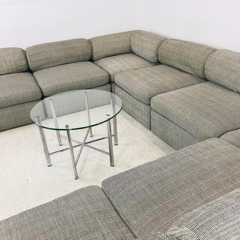 North American 8-Piece Milo Baughman Sectional Sofa For Sale