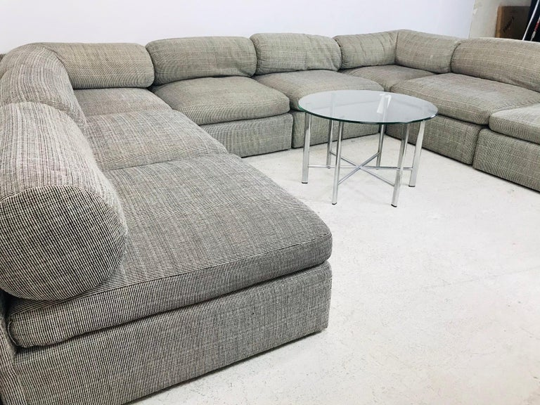 Late 20th Century 8-Piece Milo Baughman Sectional Sofa For Sale