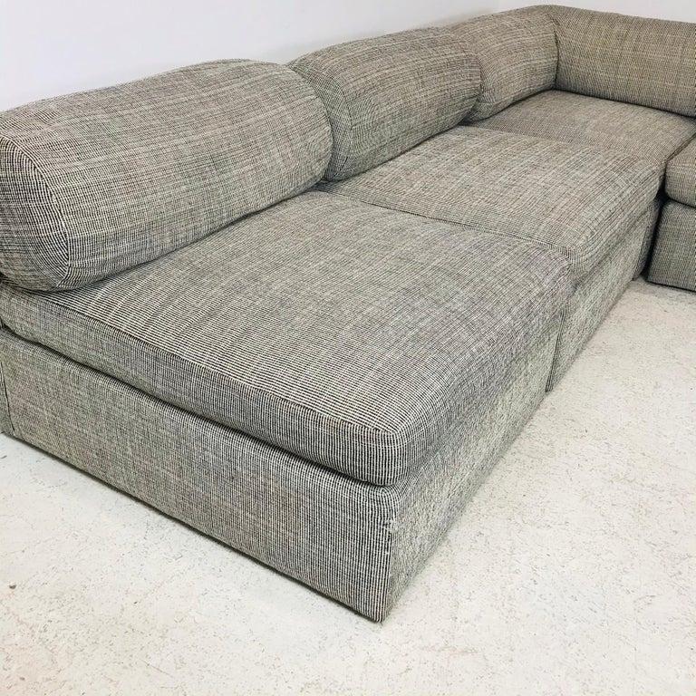 Fabric 8-Piece Milo Baughman Sectional Sofa For Sale