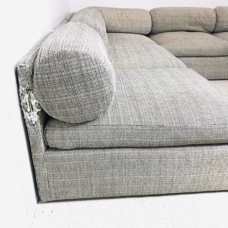 8-Piece Milo Baughman Sectional Sofa For Sale 1