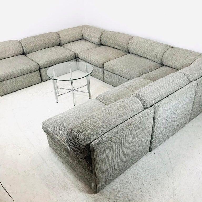 8-Piece Milo Baughman Sectional Sofa For Sale 2