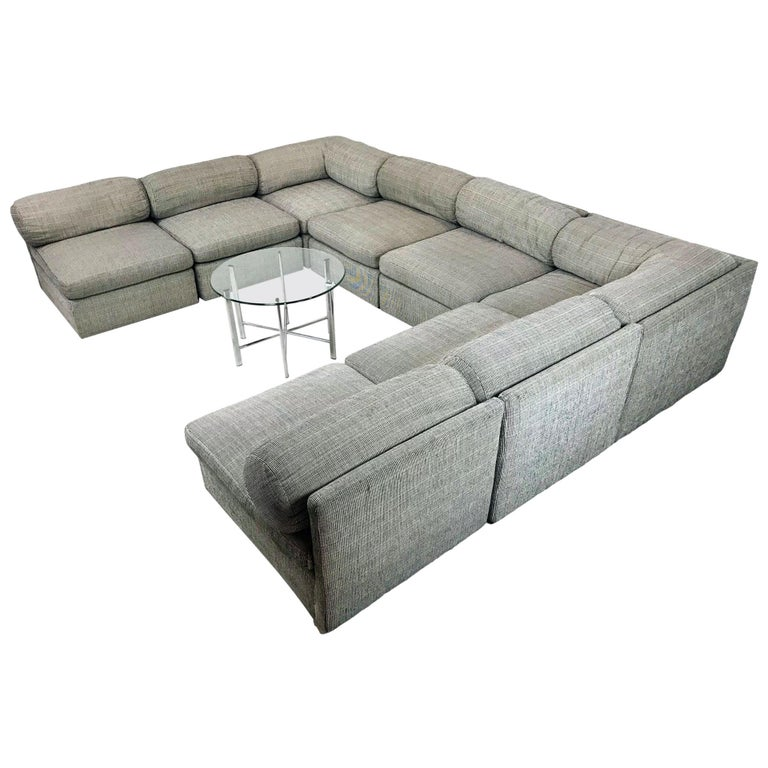 8-Piece Milo Baughman Sectional Sofa For Sale