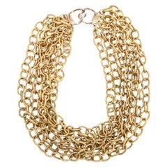 8 Row Chain Necklace Italian Vintage