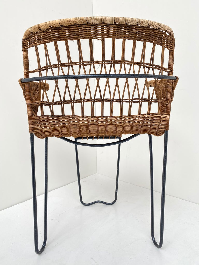 8 Sculptural Form 'Oro' Dining Chairs by Raoul Guys, 1951, Airborne, France For Sale 4