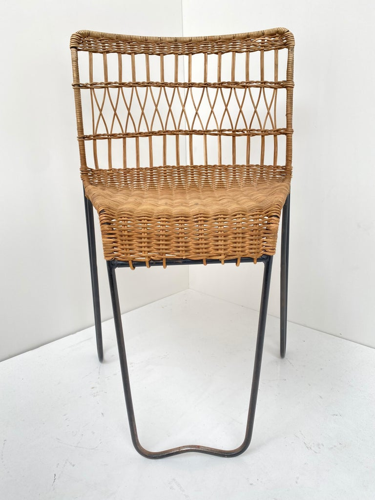 8 Sculptural Form 'Oro' Dining Chairs by Raoul Guys, 1951, Airborne, France For Sale 6