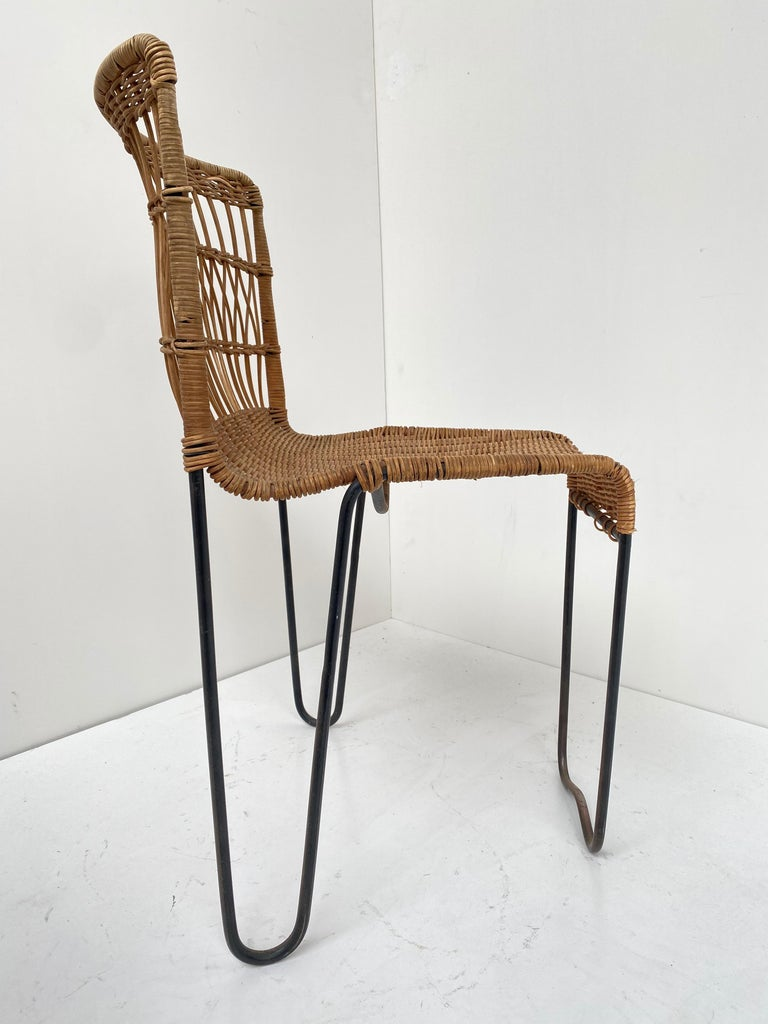 8 Sculptural Form 'Oro' Dining Chairs by Raoul Guys, 1951, Airborne, France For Sale 7