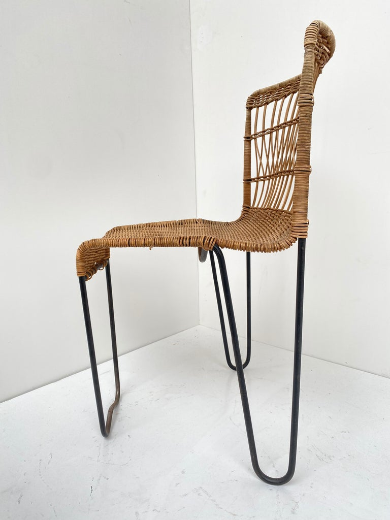 8 Sculptural Form 'Oro' Dining Chairs by Raoul Guys, 1951, Airborne, France For Sale 9