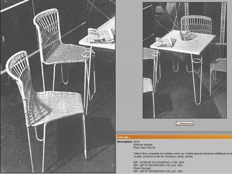 8 Sculptural Form 'Oro' Dining Chairs by Raoul Guys, 1951, Airborne, France For Sale 12