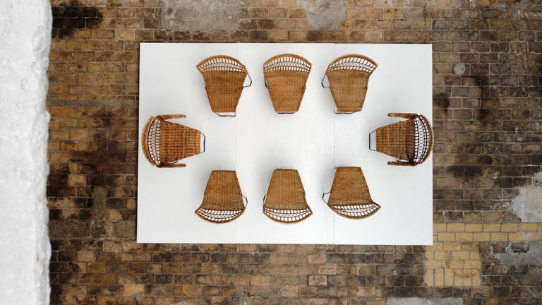 8 Sculptural Form 'Oro' Dining Chairs by Raoul Guys, 1951, Airborne, France In Good Condition For Sale In bergen op zoom, NL