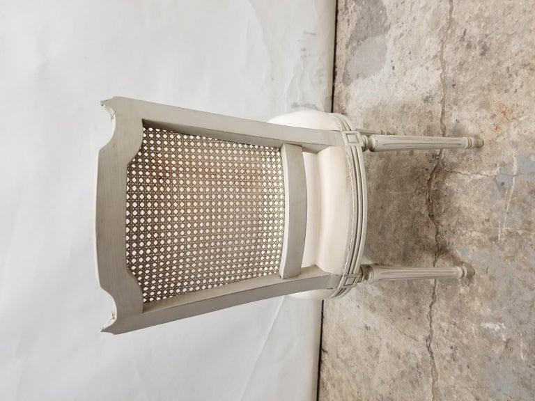 Mid-20th Century 8 Swedish Gustavian Cane Back Chairs