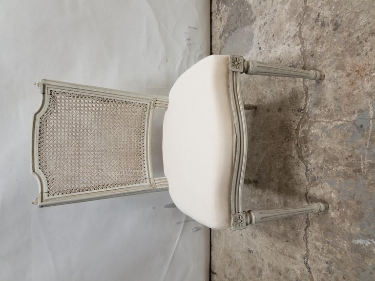 Birch 8 Swedish Gustavian Cane Back Chairs