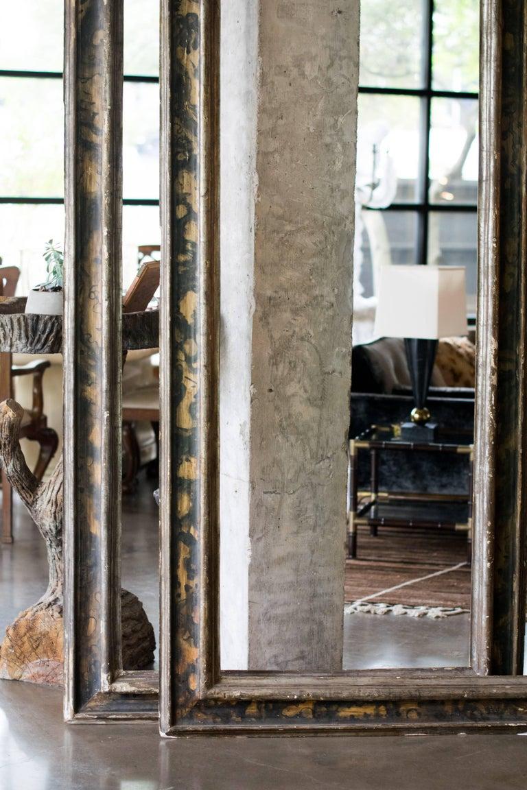 Ebonized Tall Italian 19th Century Frames, Pair For Sale