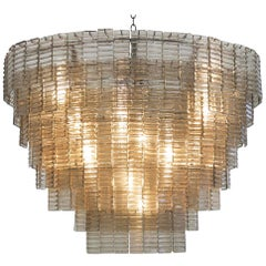 8-Tier Oval Murano Glass Chandelier with 200 Individually Cast Pieces