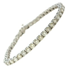 8 Total Carat Diamond Tennis Line Bracelet in White Gold