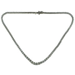 8 Total Carat Weight Diamond Graduated Tennis Necklace in White Gold