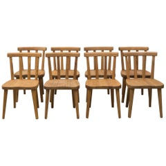 8 'Uto' Chairs by Axel Einar Hjorth, Nordics Kompaniet Sweden, 1930