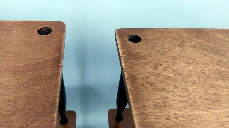 Eight Walnut Coffee Tables Model