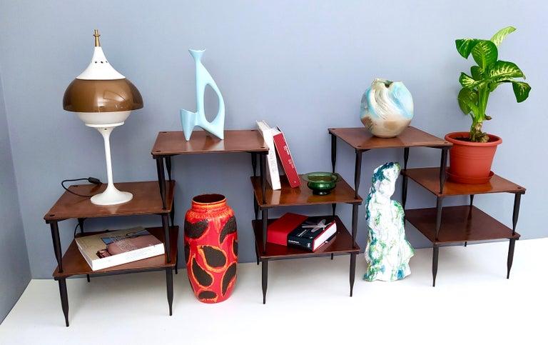 Mid-Century Modern Eight Walnut Coffee Tables Model