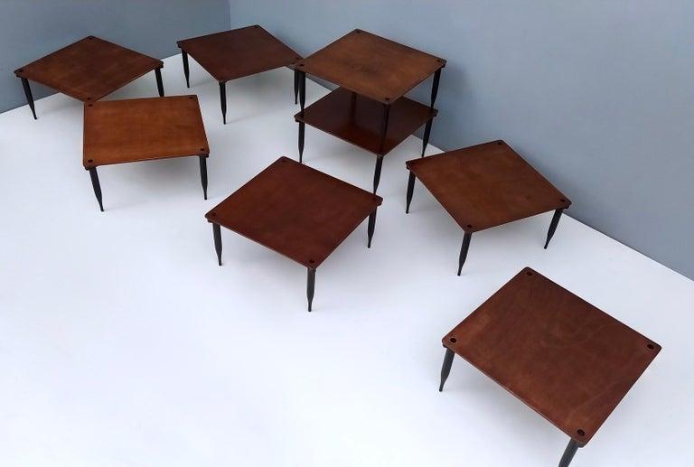 Ebonized Eight Walnut Coffee Tables Model