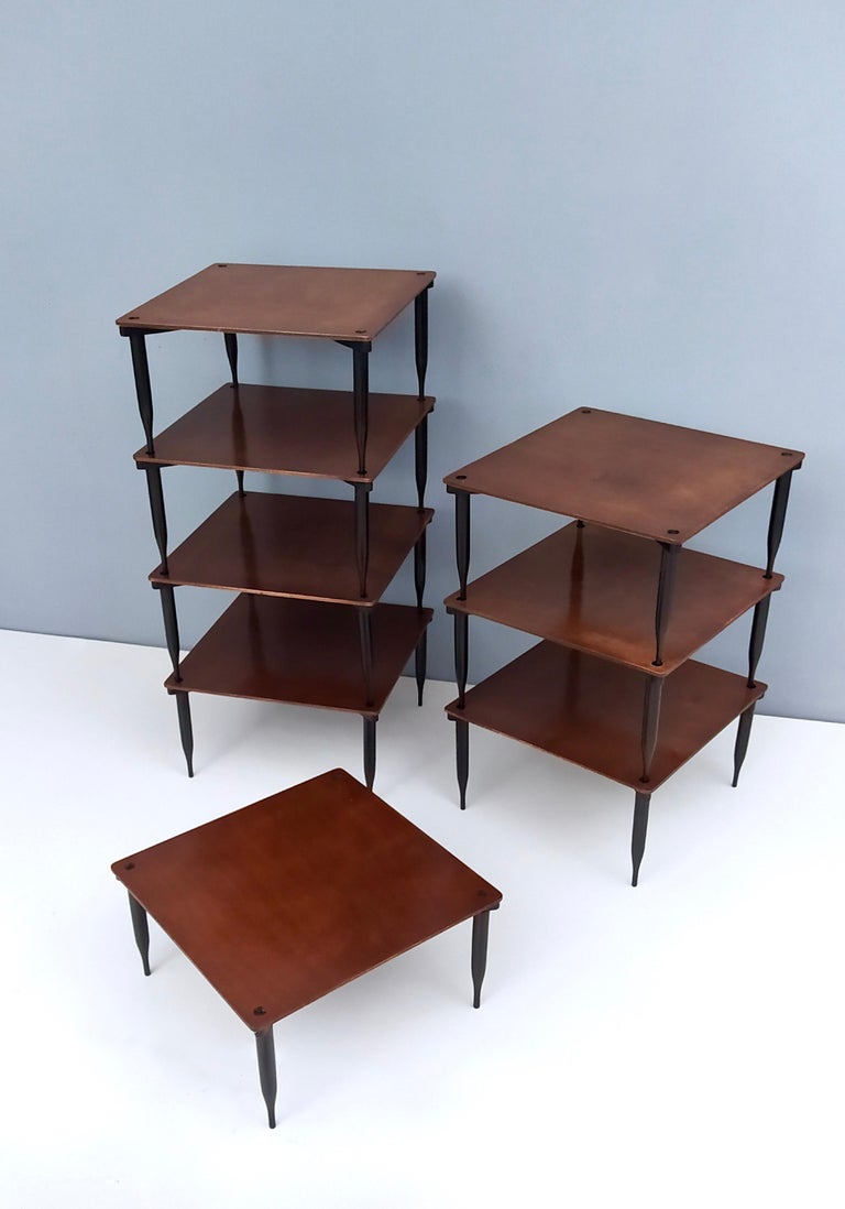 Mid-20th Century Eight Walnut Coffee Tables Model