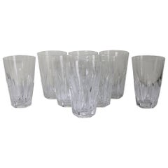 8 Waterford Crystal Sheila 10 oz Flat Tumblers High Arch Highball Juice Glass