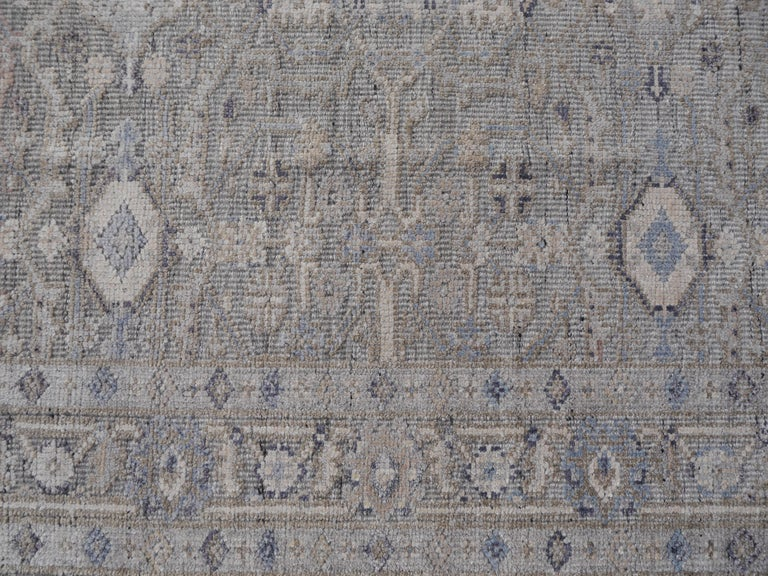 Modern Oushak Durva Rug Hand Knotted Wool Pile and Bamboo Silk For Sale 3