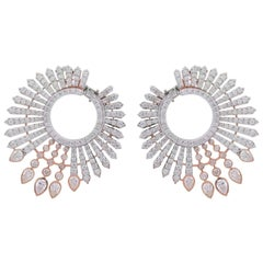 8.0 Carat Diamond 18 Karat Gold Dynamic Earrings