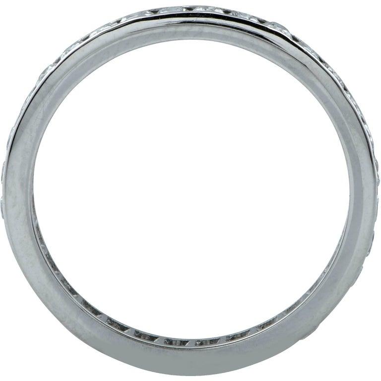 Modern .80 Carat Diamond Platinum Wedding Eternity Band For Sale