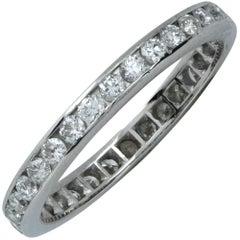 .80 Carat Diamond Platinum Wedding Eternity Band