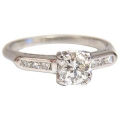 .80 Carat Vintage Old Mine Cut Diamonds Ring Platinum