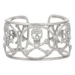 8.00 Carat Diamond Skeleton Bangle Cuff