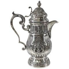 800 Silver Antique Coffee / Teapot Hallmarked