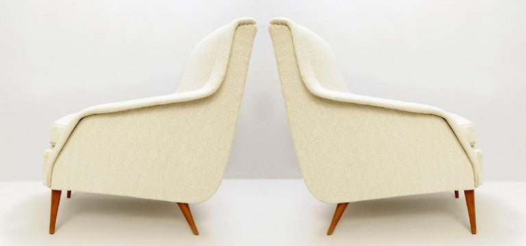 Wood 802 Armchairs by Carlo de Carli for Cassina, 1950s For Sale