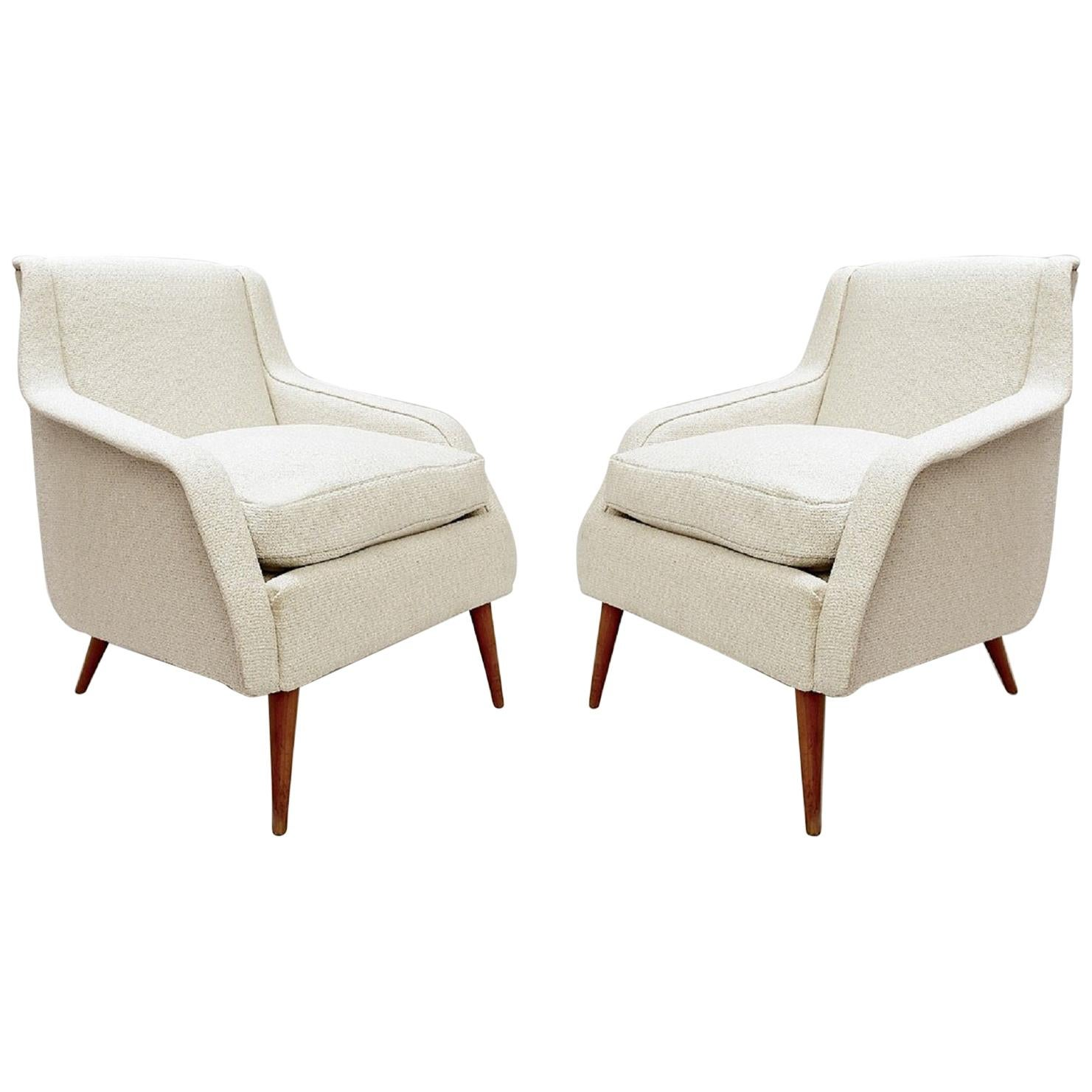 Mid-Century Modern 802 Armchairs by Carlo de Carli for Cassina, 1950s