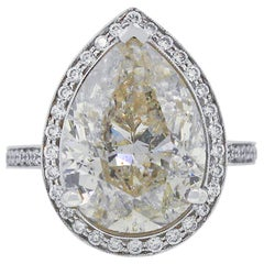 8.02 Carat Pear Diamond Engagement Ring