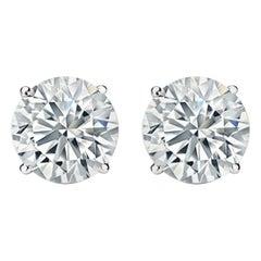 8.03 Carat Diamond Stud Earrings G-H I1