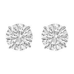 8.03tcw Round Brilliant Diamond Stud Earrings 'E/VS2'