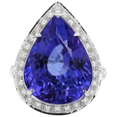 8.05 Carat Tanzanite Diamond Solitaire Ring