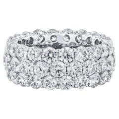 8.08 Carat Diamond and Platinum Eternity Band Ring