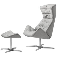 808 Swivel Recliner Lounge Chair with Ottoman Designed by Formstelle